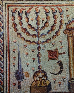 Μενορά, Συναγωγή Χαμάμ Λιβερίας, 5ος αι. μ.Χ