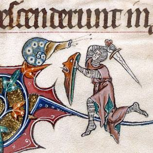 Gorleston Psalter, England 14th century (British Library, Add 49622, fol. 193v)